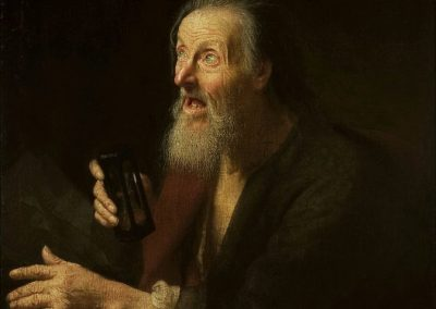 The Old Man Painting by Balthasar Denner